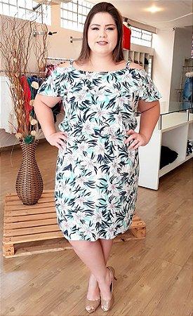 Vestido de alcinha e Babado Tropical