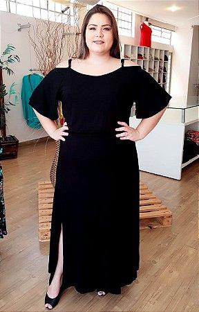 Vestido Longo Casual de Alcinha com Fenda