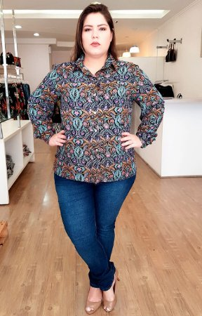 Camisa Manhattan Plus Size