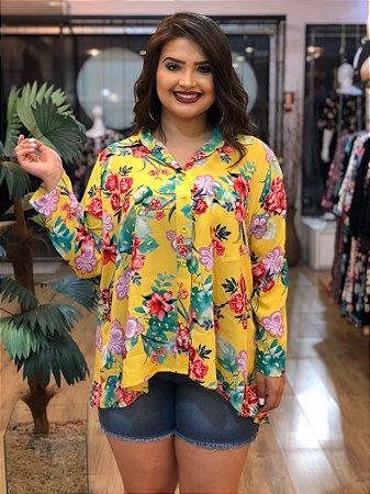 Camisa Floral Yellow - Distrito Moda  02ee271d268