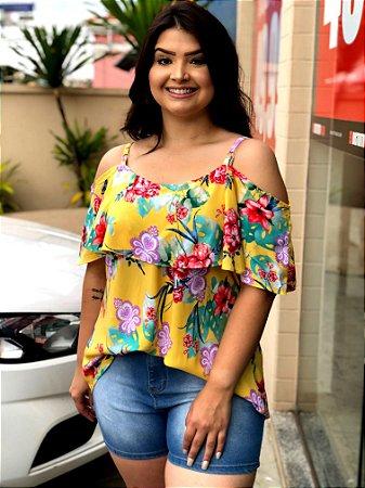 7aec35478 Blusa Yellow de Ombros Vazados com Babado - Distrito Moda | Moda e ...