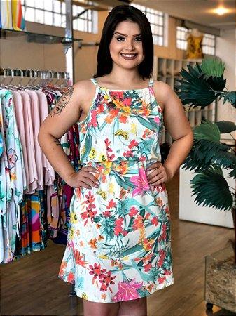 Vestido Floral White Plus Size