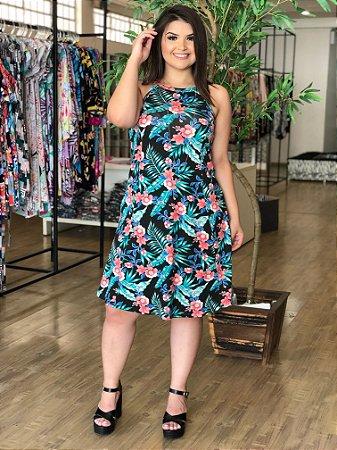 Vestido Floral Bienna Plus Size