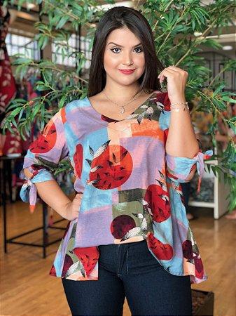 Blusa Miami Seed Geométrica Plus Size