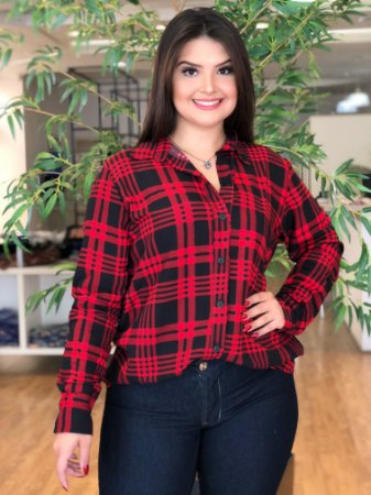 a8bdab17cb Camisa Red Xadrez Plus Size - Distrito Moda