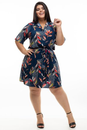 Chamisier Blue Winter Plus Size
