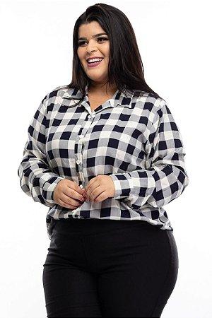 Camisa Xadrez Fast Plus Size