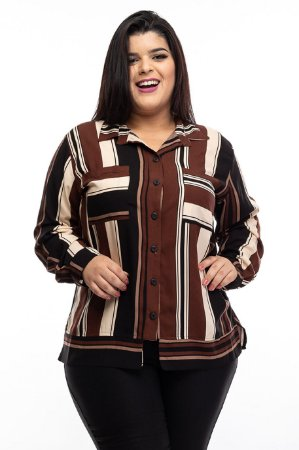 Camisa Black Marr Plus Size