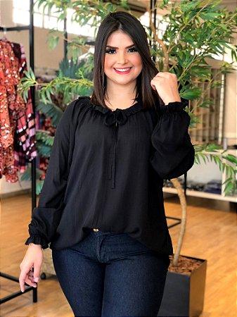 Blusa Black Nature Plus Size