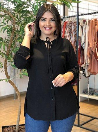 Camisa Black Classic Plus Size