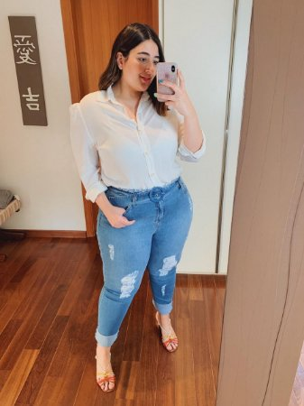 Calça jeans com Elastano Maxxi Plus Size