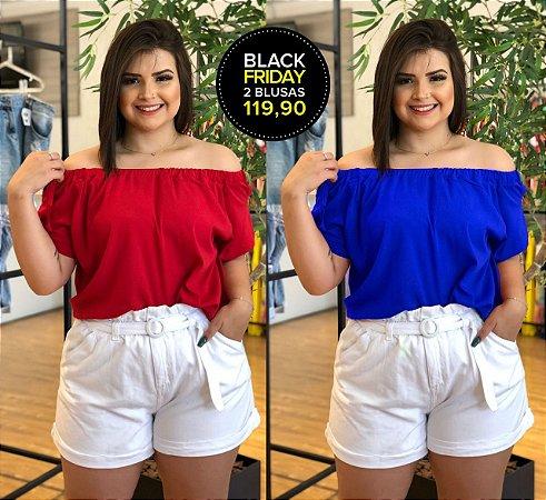 Kit Paris com 2 Blusas Plus Size (Economize R$40)