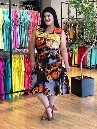 Vestido Walk Orange Plus SIze