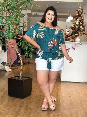 Blusa Model Green Plus Size