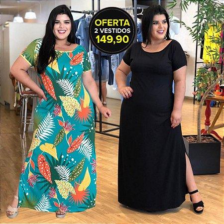 Kit Férias com 2 Vestidos Longos (Compre 1 e Ganhe o Outro)