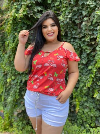 Blusa Flamingo Red