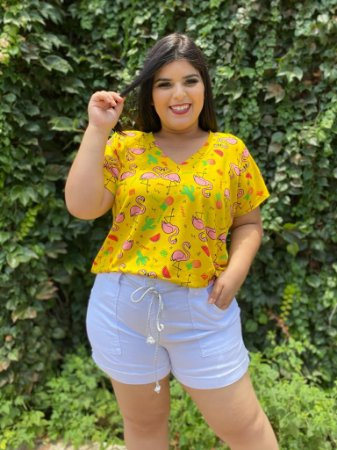 Blusa Flamingo Yellow