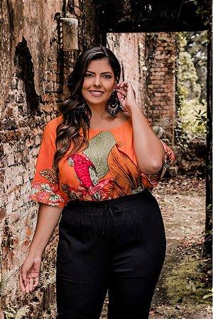 Blusa Estampa Forest Orange
