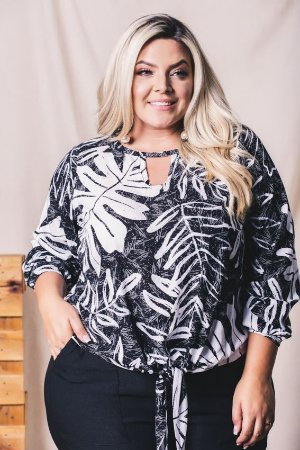 Blusa Target Black White