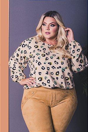 Blusa Safari Plus Size