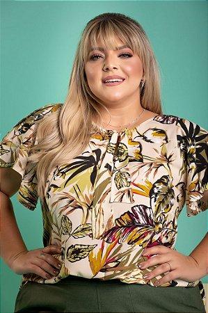 Blusa Mel Estampada Plus Size