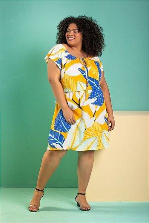 Vestido Ciganinha Yellow Plus Size