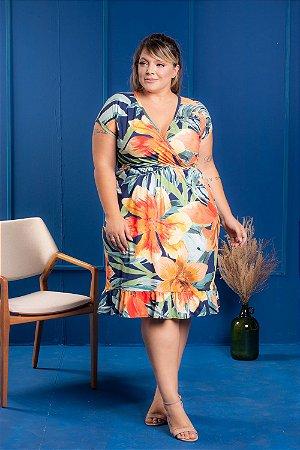 Vestido Beauty Estampado Plus Size