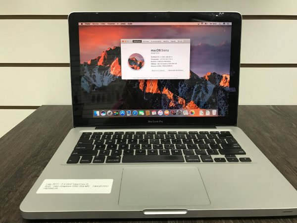 "Macbook Pro 13"" Usado - 2012 - Intel Core I5 2.5 GHZ 4GB RAM 1TB HD - Intel Graphics 4000 1536 MB"