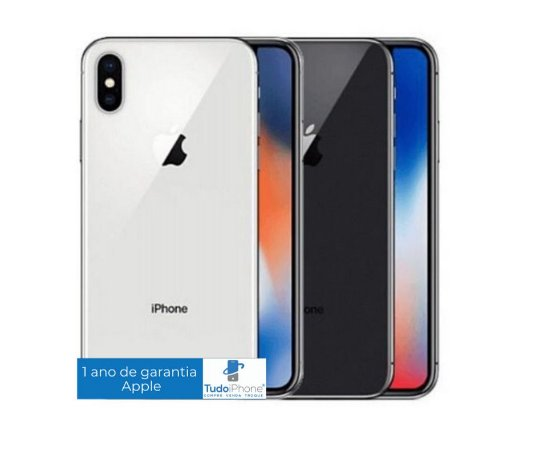 iPhone X - 256GB - 1 Ano de Garantia Apple