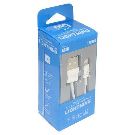 Cabo Lightning / USB de Recarga e Sincronização 1.25 metro Branco ELG - S810