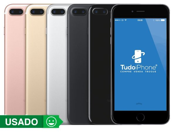 iPhone 7 Plus - 256GB - Usado - 3 Meses de Garantia TudoiPhone