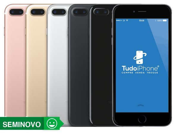 iPhone 7 Plus - 256GB - Seminovo - 1 ano de Garantia Tudoiphone