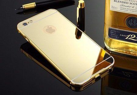 Capinha Luxo Espelhada Dourada