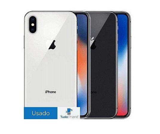 iPhone X - 256GB - Usado - 3 Meses de Garantia TudoiPhone