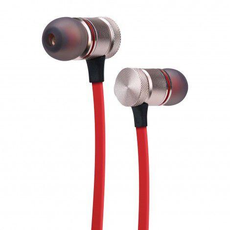 Fone de Ouvido Bluetooth Intra-Auricular c/ Microfone - Vermelho - RED NOSE - ELG - EPB-IM1RDRN