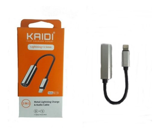 Adaptador Duplo - 2 IN 1  para Audio e Carregamento Lightining - Kaid - Model KD-175