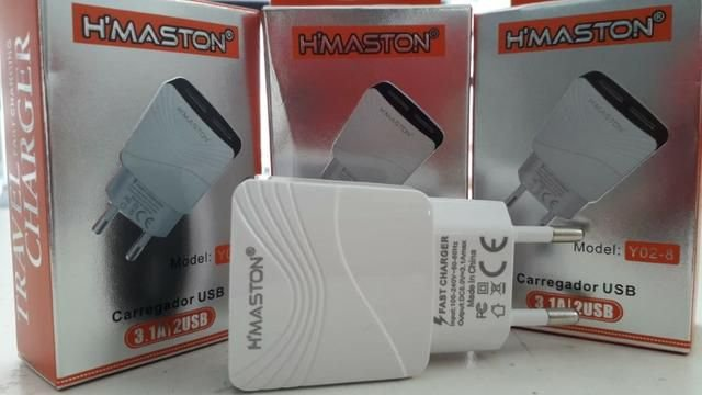 Carregador de Parede Universal USB -Duplo HMaston - Y02-8
