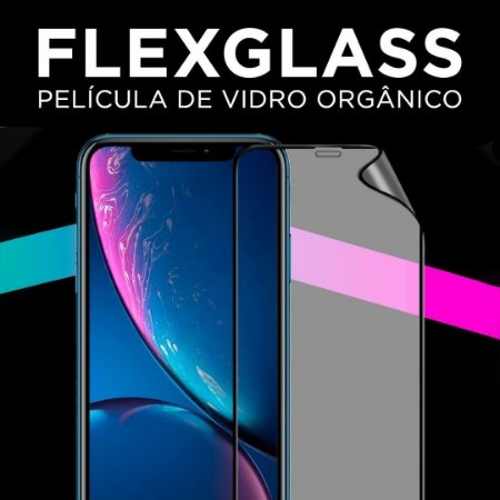 Película de Vidro Orgânico Flexível  3D com Borda Preta - FlexGlass - Guardian