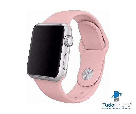 Pulseira Apple Watch - Silicone Tradicional 42/44mm - Rosa bebê
