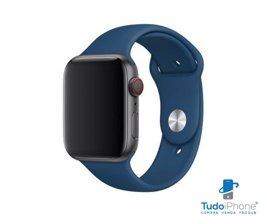 Pulseira Apple Watch - Silicone Tradicional 42/44mm - Azul escuro