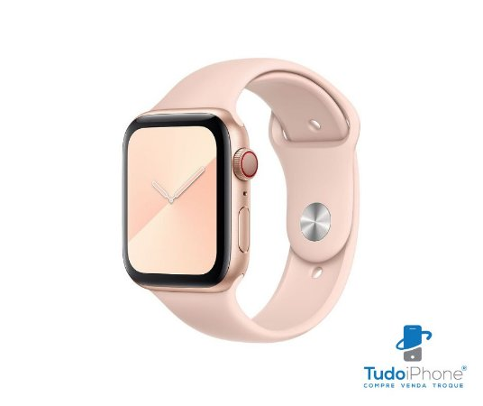 Pulseira Apple Watch - Silicone Tradicional 42/44mm - Rosa claro