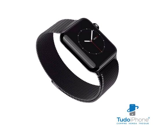 Pulseira Apple Watch - Estilo Milanês 42/44mm - Preto
