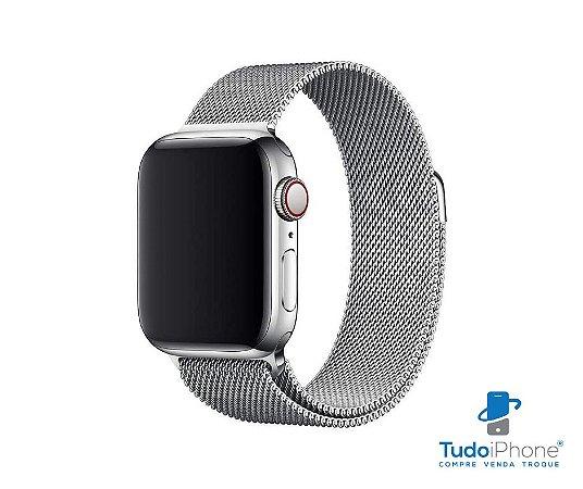 Pulseira Apple Watch - Estilo Milanês 42/44mm - Prata