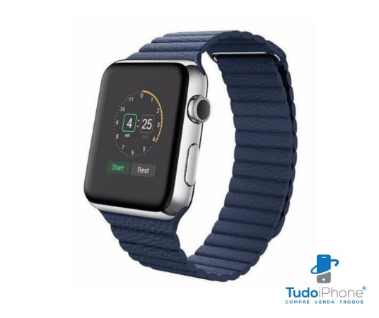 Pulseira Apple Watch - Loop Couro  42/44mm - Azul