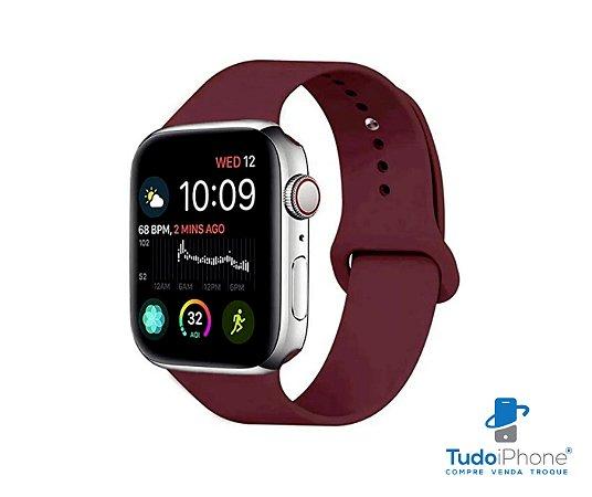 Pulseira Apple Watch - Silicone Tradicional 42/44mm - Marsala