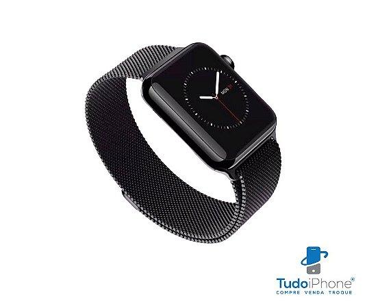 Pulseira Apple Watch - Estilo Milanês 38/40mm - Preta