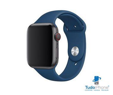 Pulseira Apple Watch - Silicone Tradicional 38/40mm - Azul Escuro