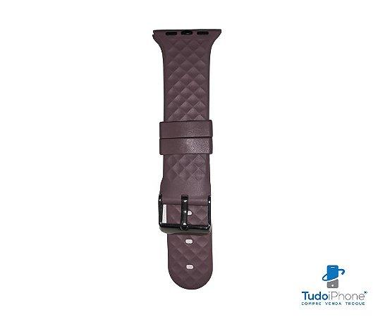 Pulseira Apple Watch - Silicone Tradicional com relevo 38/40mm - Rosa envelhecido