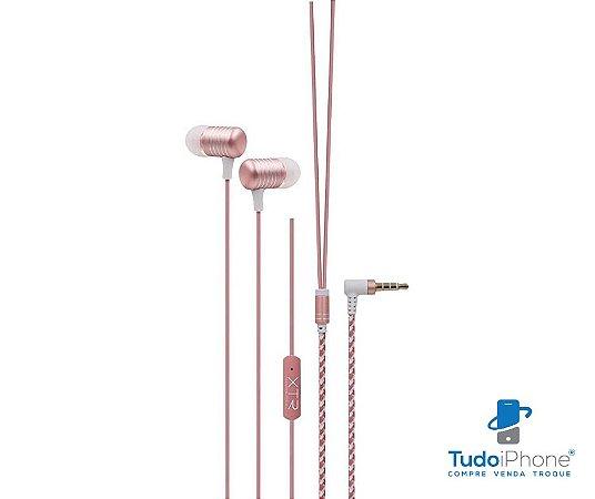 Fone de ouvido c/ microfone - Xtrax - 3 anos de garantia