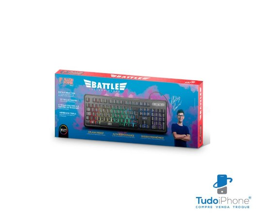 Teclado Gamer Battle - Flakes Power - ELG